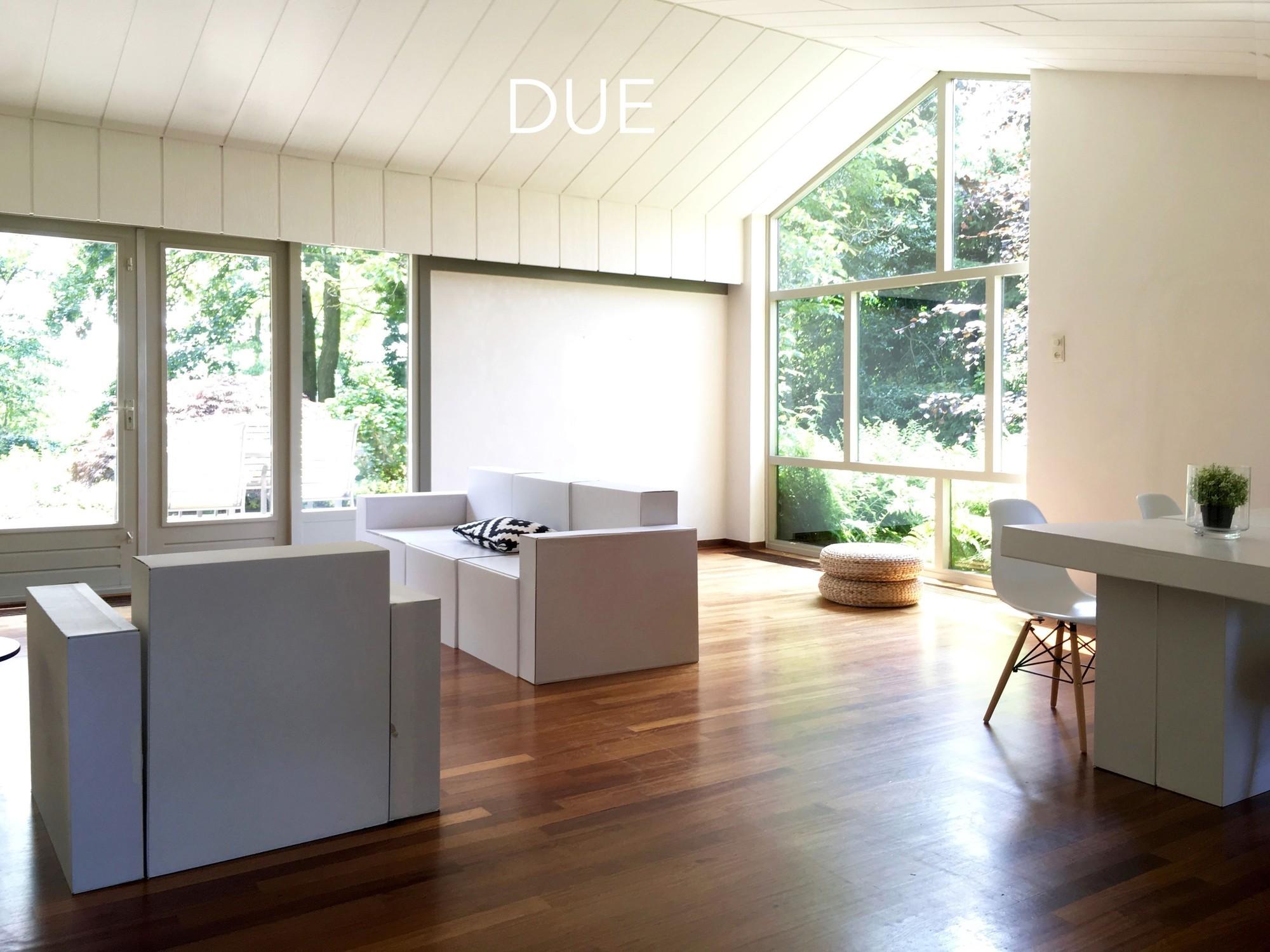 Durante: Home Staging con mobili in cartone CUBIQZ