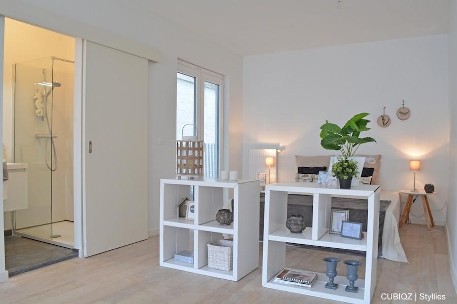 1. HomeStaging con mobili in cartone cubiqz per camera da letto