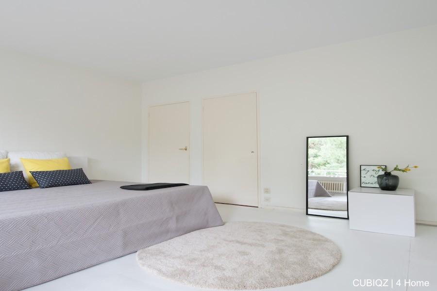 9. HomeStaging con mobili in cartone cubiqz per camera da lettoHome staging with CUBIQZ cardboard bed