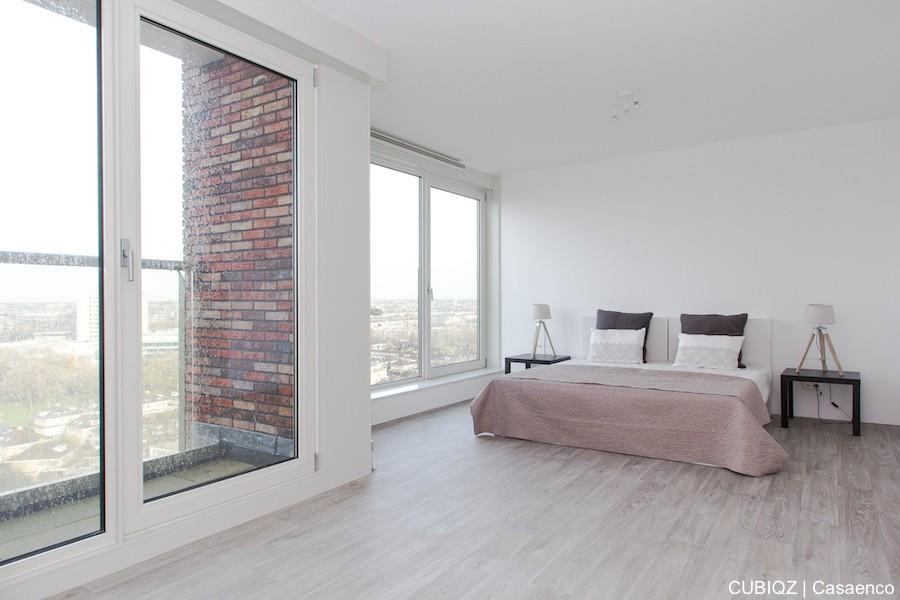 11. HomeStaging con mobili in cartone cubiqz per camera da lettoHome staging with CUBIQZ cardboard bed