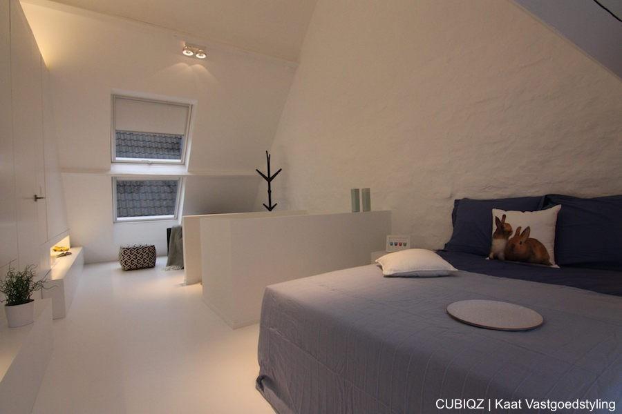 8. HomeStaging con mobili in cartone cubiqz per camera da lettoHome staging with CUBIQZ cardboard bed