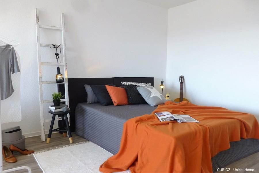 6. HomeStaging con mobili in cartone cubiqz per camera da letto